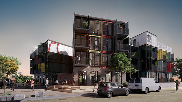 Visualisering af Container Living Musicon